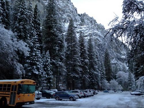 Bus in Yosemite
